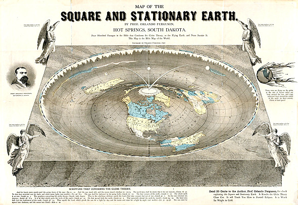The stationary earth from 1893 published by Orlando Ferguson