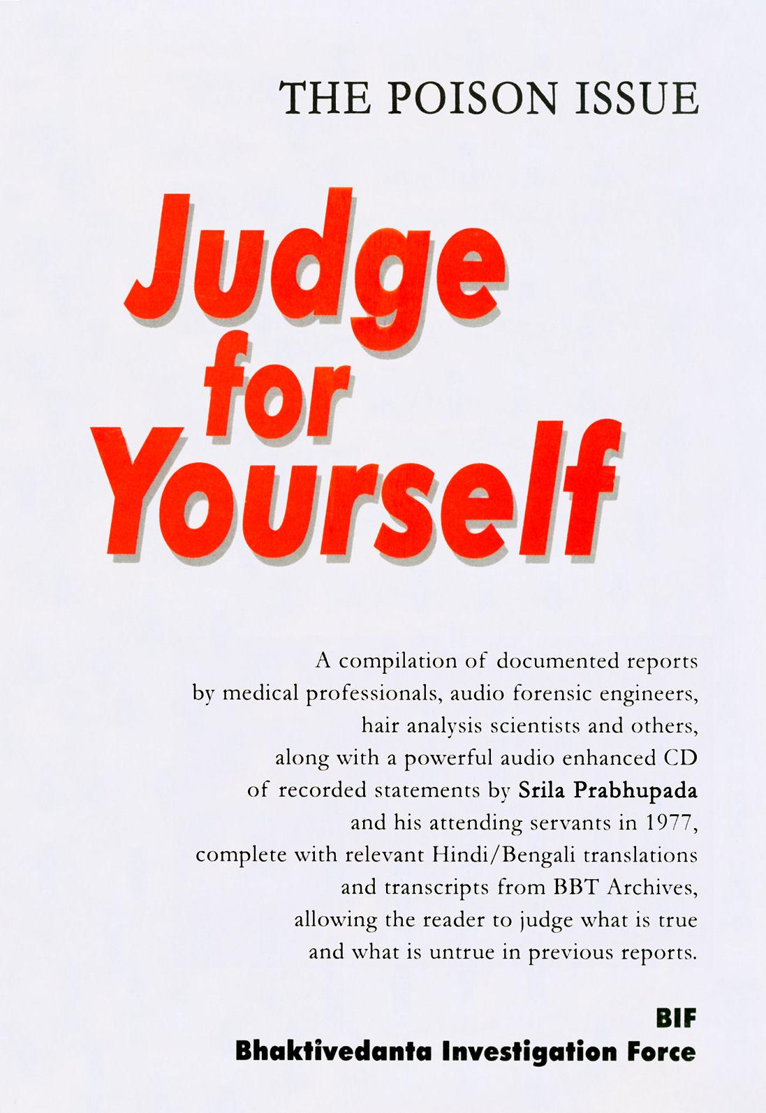 Jfy judge for yourself bif srila prabhupadas poisoning by arsenic fandeluxe Image collections